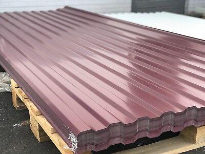 Fürs Dach Baustoffe & Holz Trapezblech Blech Profilblech 250x114cm Wellblech Dachblech Stahlblech Ral3005 Erfrischung
