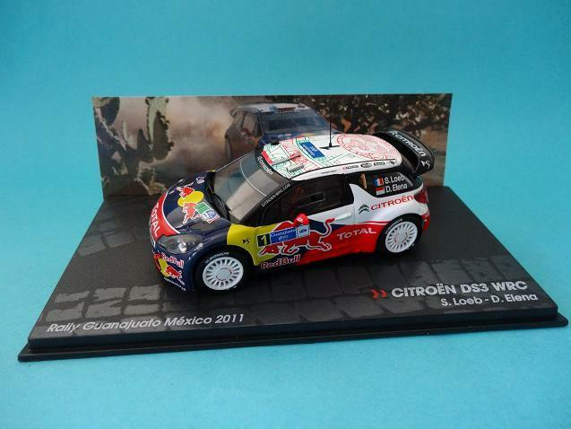 CITROEN DS3 WRC RED BULL - S. LOEB - RALLY MEXICO 2011 1/43 NEW IXO / ALTAYA