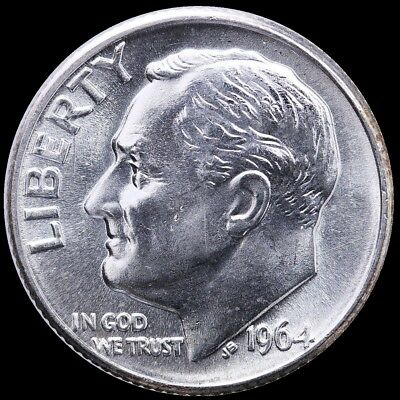 Uncirculated a P Roosevelt Dime 1964