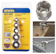 IRWIN 5 Pce EXPANSION Damaged/Rounded Bolt Grip Nut Remover Set 8-19mm, 10504635