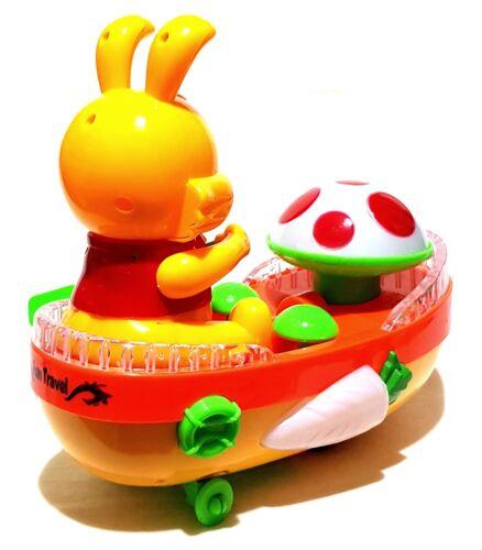 Top Elektrisches Spielzeug Hase Boot Auto Car Selbstfahrend LED Ostern 21cm Groß