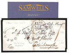 MS497 1846 GB SCOTLAND Morays *BURGHEAD* UDC Elgin Stampless Cover Prepaid *1*d