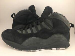 best service eb3f6 105d6 Image is loading Nike-Air-Jordan-10-X-Stealth-Black-Grey-