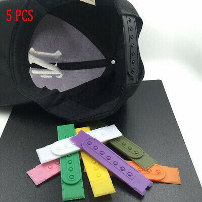 Black Snapback Hat Cap Plastic Replacement Repair Snap Buckle Strap 1set