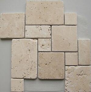 Travertin naturstein mosaik fliesen getrommelt wandverkleidung antik - Naturstein mosaik fliesen ...