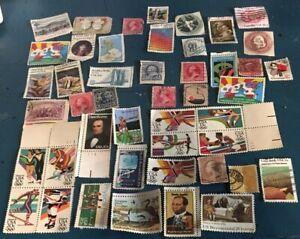 Lot-of-47-Vintage-Stamps-0-01-0-02-0-05-0-10-0-13-0-15-0-18-0-20