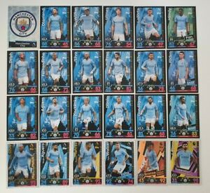 2018-19-Match-Attax-EPL-Soccer-Cards-Manchester-City-Team-Set-inc-2-Limited