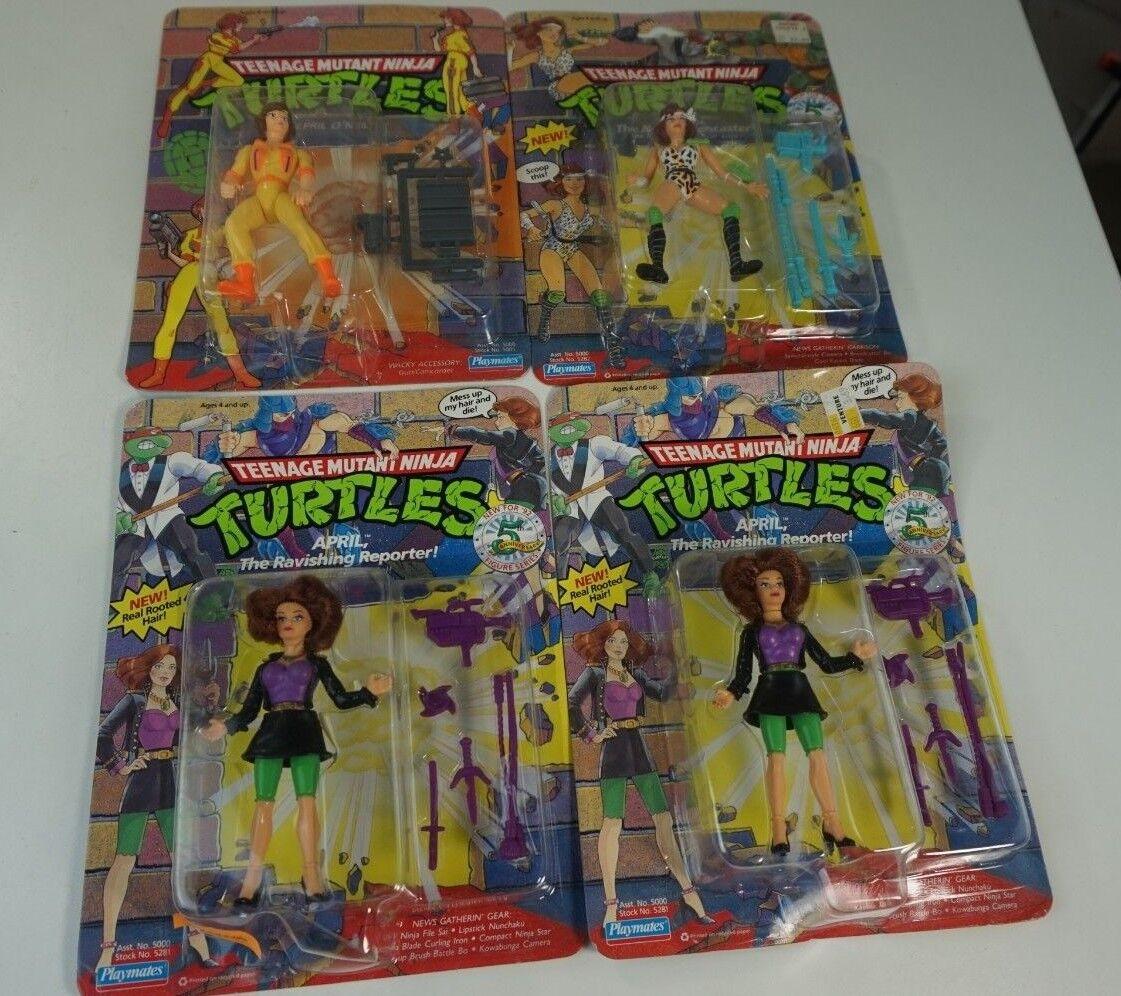 Nuevo Teenage Mutant Ninja Turtles TEENAGE MUTANT NINJA TURTLES abril O 'Neil Playmates Lote de 4 1990 1992