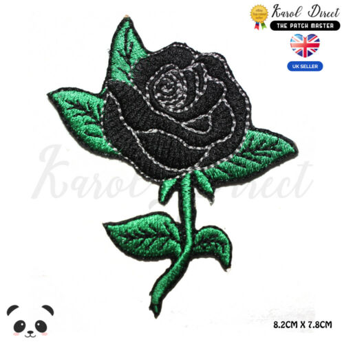 Flower Black Rose Disney Movies Embroidered Iron On Sew On PatchBadge
