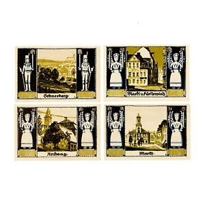1 Set Of 4 Différentes Allemagne 1921 Au Gebneeburg E7kcdn9b-07231349-682679462