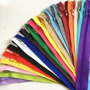 10pcs 50cm(20 Inch)Nylon Coil Zippers Tailor Sewer Craft Crafter's &FGDQRS MIX