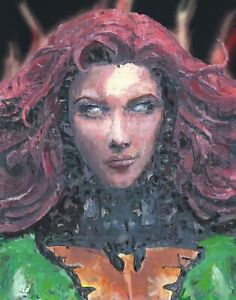 11x14-034-PRINT-Jean-Grey-Dark-Phoenix-Portrait-Bust-Painting-Comic-Book-Wall-Art