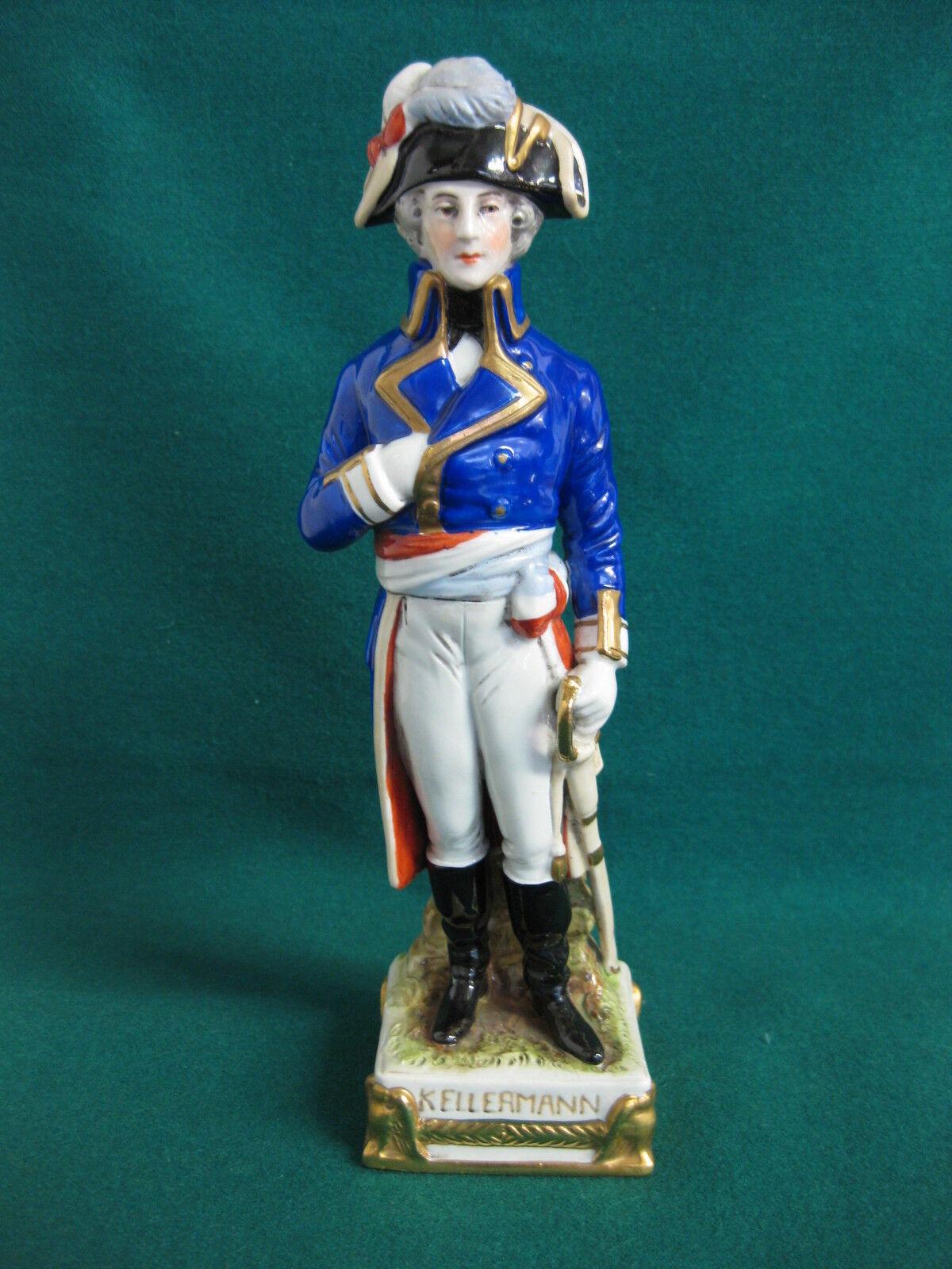 Scheibe Alsbach Napoleon Kellermann Figur 25 cm bunt Soldat Marschall