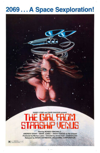 THE GIRL FROM STARSHIP VENUS Movie Poster Sci-Fi Exploitation Sex XXX