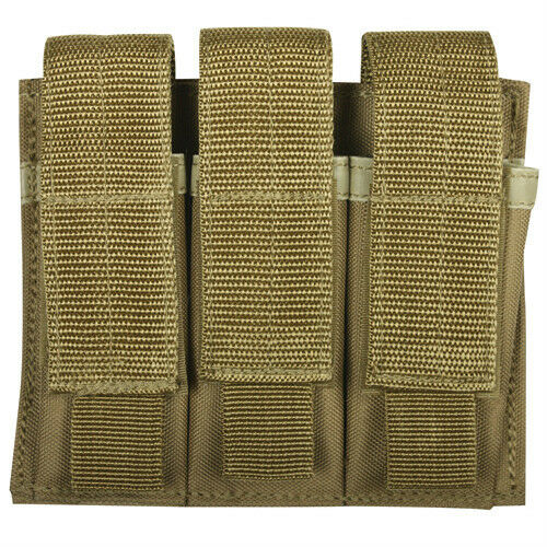 NEW DESERT COYOTE TAN Military Style Tactical Triple Pistol Mag MOLLE Pouch