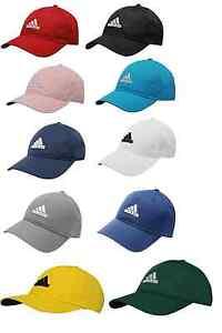 Adidas Mens Golf Sports Peak Cap Baseball Running Hat 3 Stripes ... 24bd8419295