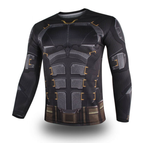 Batman Spring Summer T-Shirts Cosplay Costume Mens Quick Dry Tops Tee Plus Size