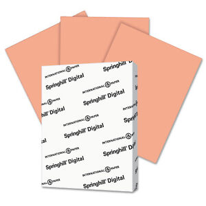 Springhill Digital Index Color Card Stock 110 lb 8 1/2 x 11 Salmon 250 Sheets