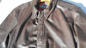 USAF A-2 Leather Flight Jacket MFG Cooper Size 34R Rare Size ...