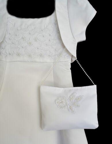 Täschchen Tasche WAHL weiß zum Kommunionkleid Kleid Brautjungfer Brautkleid neu