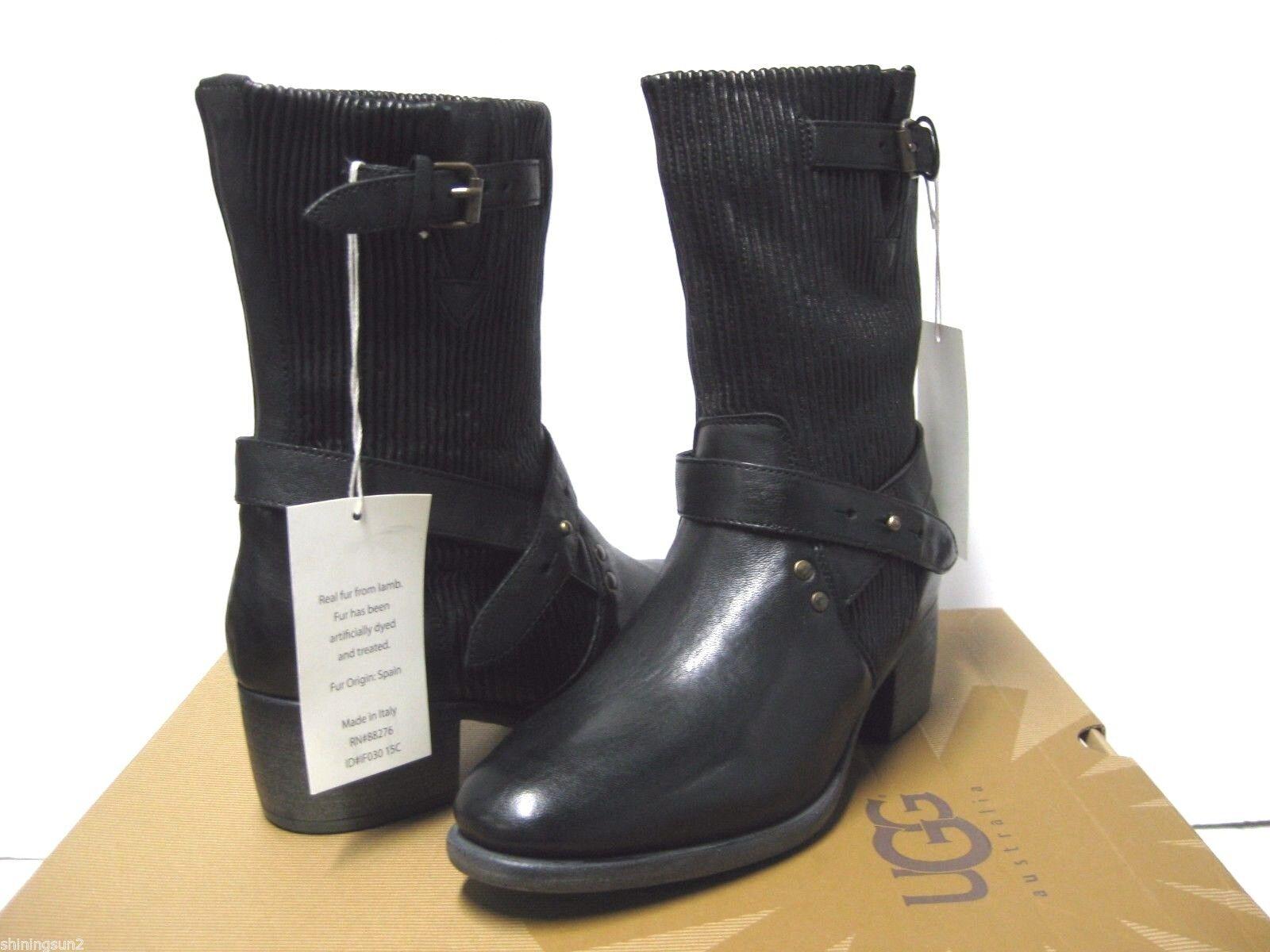 Ugg Collection Cattania Gore Black Women Boots US9.5/UK8/EU40.5/JP265