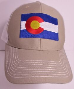 1c8075401 Colorado State Flag Patch Trucker Snapback Hat Cap New | eBay