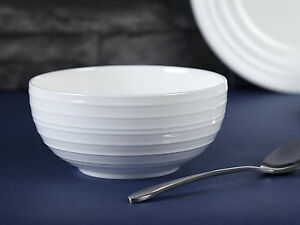 Image is loading MIKASA-Ciara-White-Bone-China-FLUTED-CEREAL-BOWL- : mikasa dinnerware canada - pezcame.com