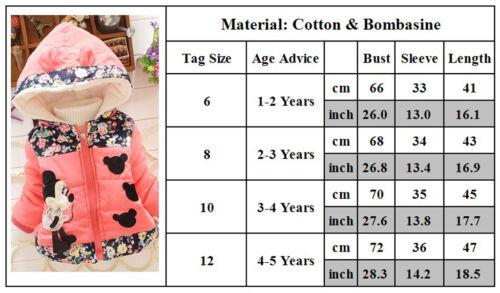 Kids Baby Girl Boy Mickey Minnie Mouse Hoodie Coat Jacket Tracksuit Outwear Tops