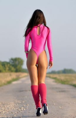 Size Gennady 130-90 Spandex Women Thong High Collar Leotard Choose Your Color
