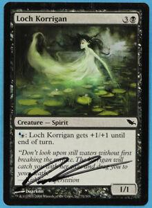 s1996 Unmake Eventide NM White Black Common Artist Signed CARD ABUGames
