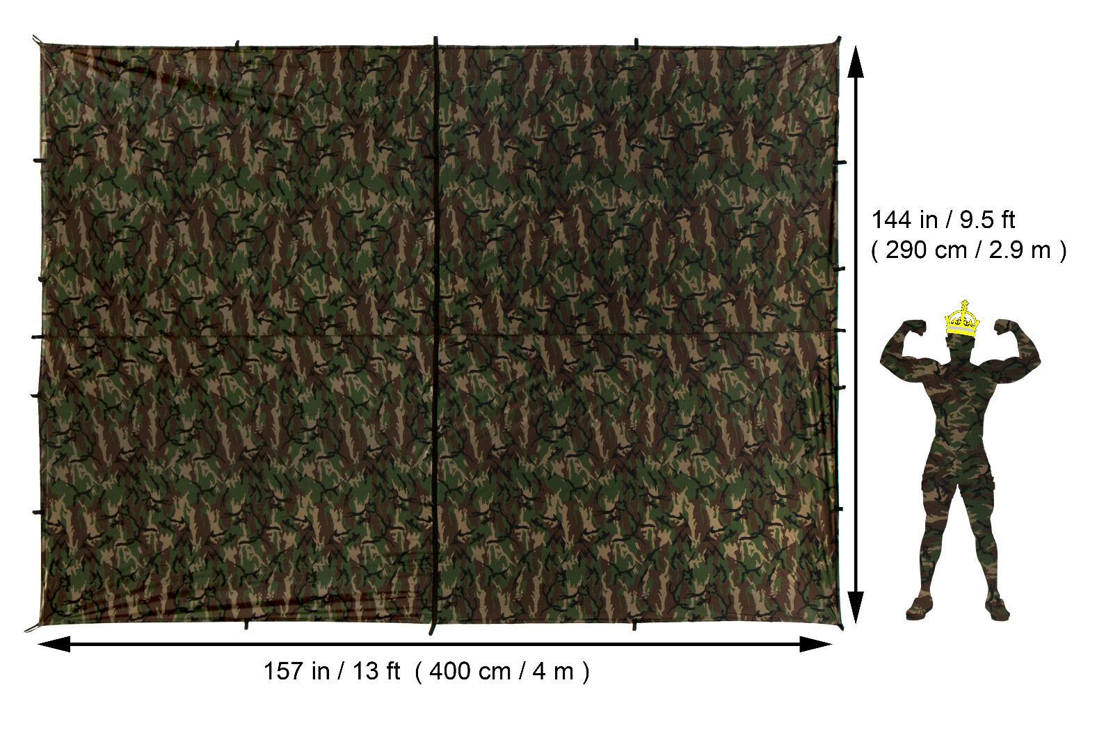 Aqua Quest Defender re Kamo TELONE Basha  100% Impermeabile 4 x 3 M CAMOUFLAGE