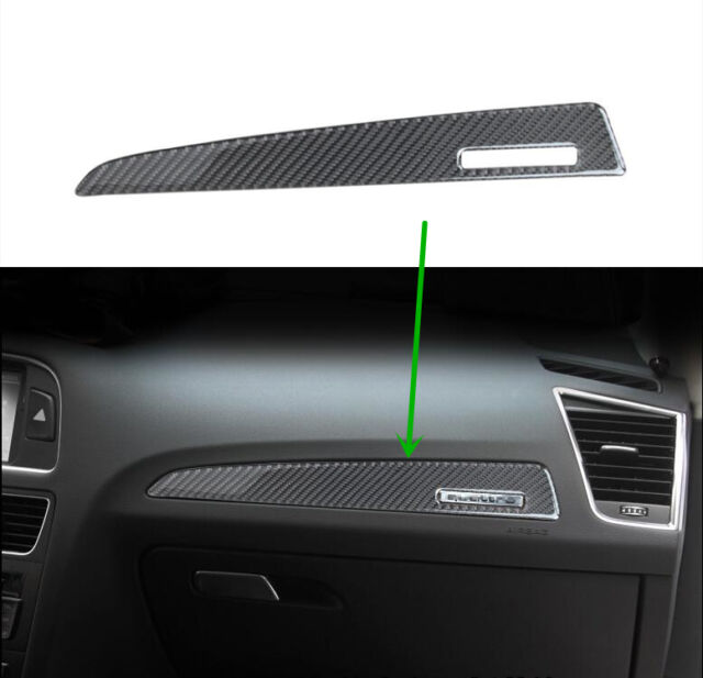 Carbon Fiber Trim For AUDI Q5 Interior Dashboard Co-pilot