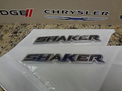 2x OEM Chrome SHAKER Hood Emblems Badges 3D Dodge Challenger Charger 1 uw