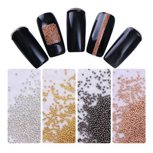 Nail-Beads-Rose-Gold-Colorful-Stainless-Steel-Mini-3D-Nail-Art-Decoration
