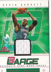 2004-05-Fleer-Genuine-At-Large-Game-Used-199-KG-Kevin-Garnett-Jersey-199