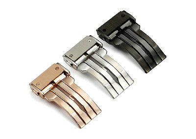 24mm Metal Deployant Clasp Push Buckle 4 Big Bang Lether Rubber Watch Band Strap