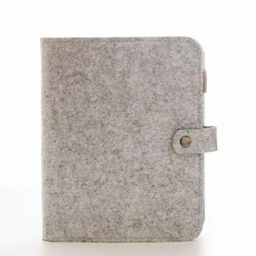 Felt Fabric Notebook Binder Light Soft Diary Cover Size A5//A6 Office Supplies
