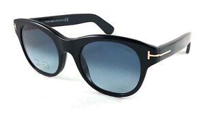 72ea4980f4d TOM FORD Ally TF532 TF 532 01W Black   Blue Sunglasses 51-20-140 ...