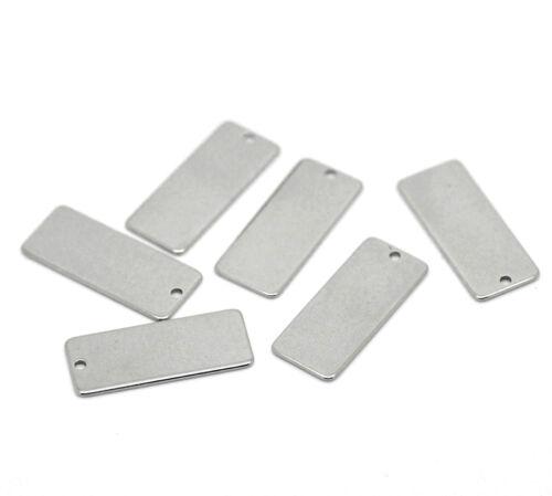 Stainless Steel Metal Blank Stamping Engraving Tags Jewellery Making Pendants 5