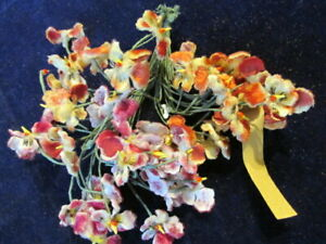 Vintage-Millinery-Flower-Collection-Velvet-Pansy-Pink-Rust-3-4-034-German-H3370