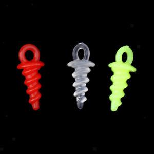 50 Stück Karpfenangeln Boilies Schraube mit Solid Ring Köder Werkzeug Chod
