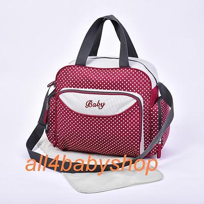 Baby Nappy Diaper Changing Bags Grey/Polka Dots Design 6600