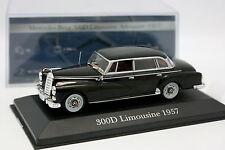 Ixo Presse 1/43 - Mercedes 300 D Limousine 1957 Noire