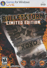 BULLETSTORM LIMITED EDITION Bullet Storm Shooter PC Game Windows XP,Vista,7 NEW!