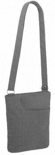 Womens Croc Print Faux Leather Cross Body Messenger Shoulder Purse Handbag Bag