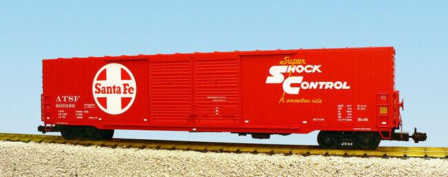 USA Trains G Scale 60 Ft Single Door Box voiture  R19400B  Santa Fe Double Door - rouge  envoi gratuit dans le monde entier