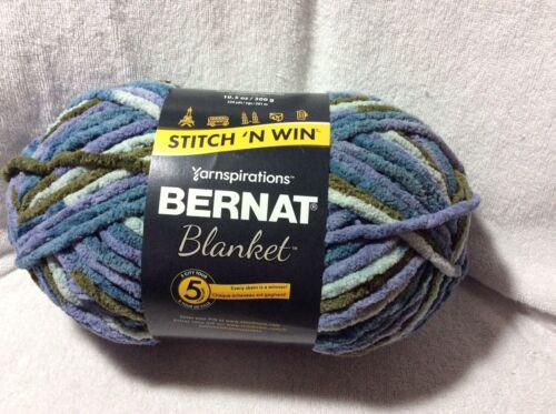 Bernat Blanket Yarn 10.5oz Blue Pine