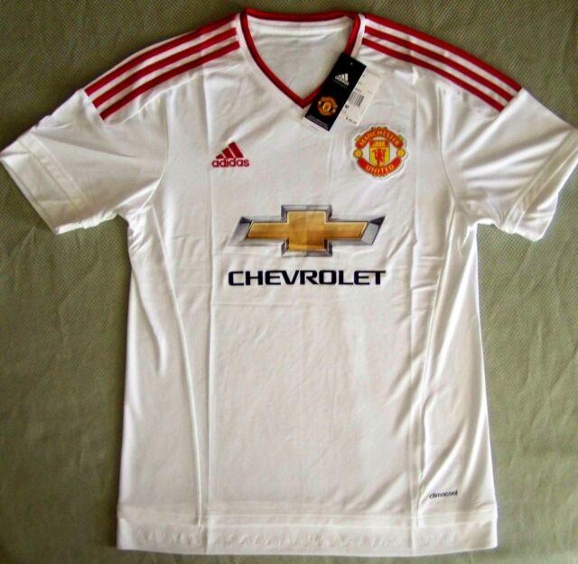 Adidas  90 Premier League Soccer Jersey Manchester United 2016 away white  size L 1d54dfac8