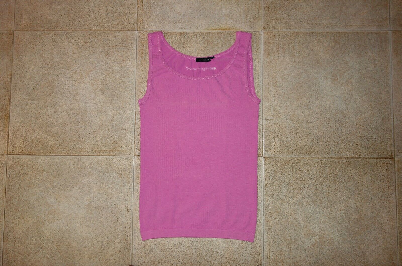 Dsquared² Runway PINK Cotton Canotta Singlet T-shirt M Made in , RARE