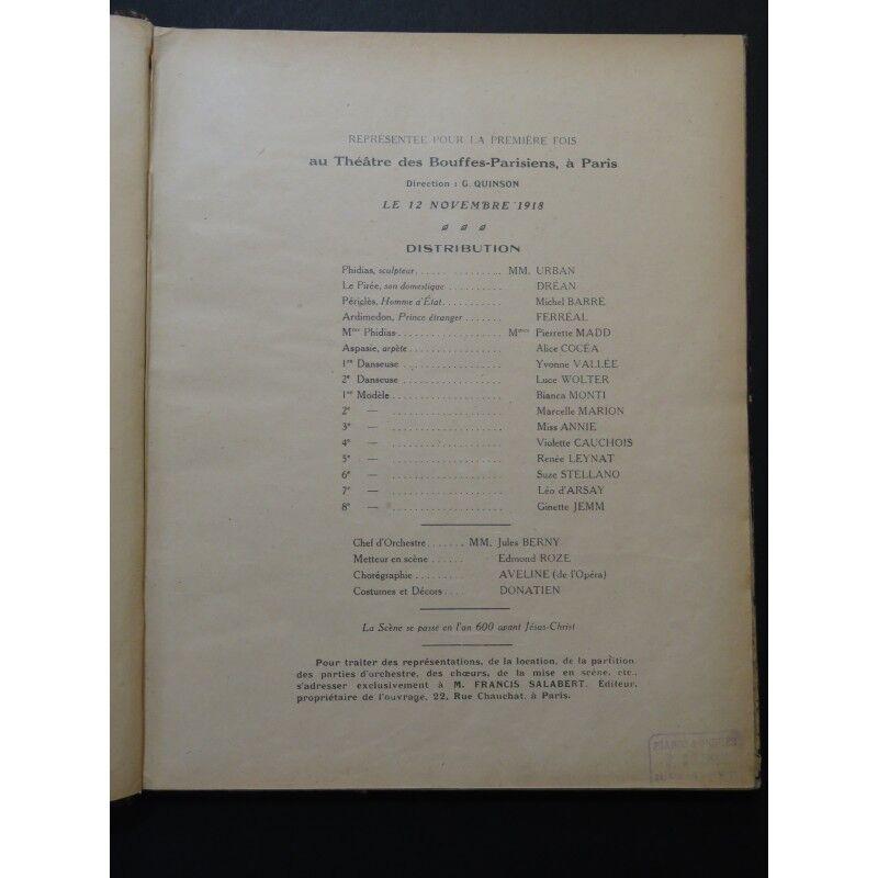 CHRISTINÉ Henri sheet Phi-Phi Opérette Piano Chant 1919 partition sheet Henri music score 92efc5